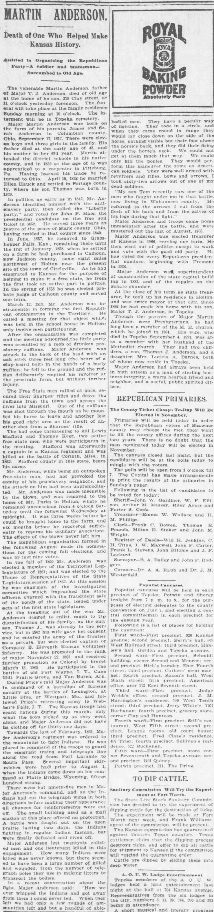 Martin Anderson obituary, The_Topeka_Daily_Capital_Sat__Jul_10__1897_